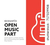 music part poster banner with... | Shutterstock .eps vector #717329908