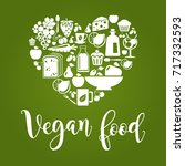 vector illustration of vegan... | Shutterstock .eps vector #717332593