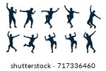 male silhouette dancer | Shutterstock .eps vector #717336460