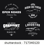 set of modern sports car and... | Shutterstock . vector #717340120