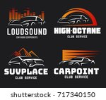 set of modern sports car and... | Shutterstock . vector #717340150
