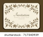 vintage gold rectangle frame... | Shutterstock .eps vector #717340939