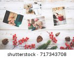 photo album in remembrance and... | Shutterstock . vector #717343708