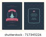 christmas greeting card design... | Shutterstock .eps vector #717345226