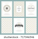 merry christmas greeting cards... | Shutterstock .eps vector #717346546