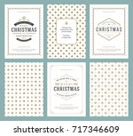 merry christmas greeting cards... | Shutterstock .eps vector #717346609