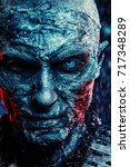 close up portrait of a zombie... | Shutterstock . vector #717348289