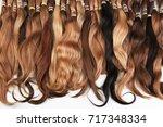 hair extension equipment of...   Shutterstock . vector #717348334