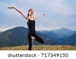 active lifestyle  yoga  woman... | Shutterstock . vector #717349150