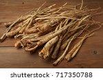 root of korean bellflower ...   Shutterstock . vector #717350788