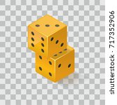 isometric gambling dice   Shutterstock .eps vector #717352906