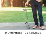 unrecognizable man with... | Shutterstock . vector #717353878