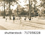 blurred group of multiethnic ... | Shutterstock . vector #717358228