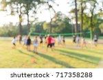 blurred group of multiethnic ... | Shutterstock . vector #717358288