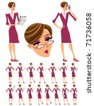 attractive business woman...   Shutterstock .eps vector #71736058