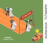 business competition flat... | Shutterstock .eps vector #717360694