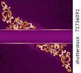 Purple Banner With A Gold...