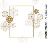 japanese pattern vector. gold... | Shutterstock .eps vector #717361663