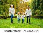 happy family  daughter  mother  ... | Shutterstock . vector #717366214
