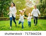 happy family  daughter  mother  ... | Shutterstock . vector #717366226