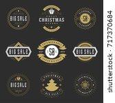 christmas sale badges  badges...   Shutterstock .eps vector #717370684