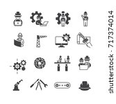 simple engineer icons set vector | Shutterstock .eps vector #717374014