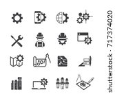simple engineer icons set vector | Shutterstock .eps vector #717374020