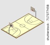 field for play basketball with... | Shutterstock .eps vector #717377458
