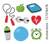 health icons collection | Shutterstock .eps vector #717378478