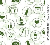 seamless pattern of various... | Shutterstock .eps vector #717378790