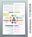 resume design template... | Shutterstock .eps vector #717381358