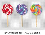 Lollipop Set  Vector...