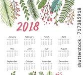 2018 calendar template | Shutterstock .eps vector #717385918
