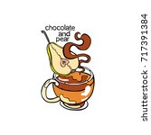 tea cup. isolated vector... | Shutterstock .eps vector #717391384