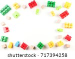 toys background. colorful... | Shutterstock . vector #717394258