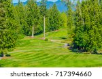 sand bunkers at the golf course. | Shutterstock . vector #717394660