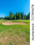 sand bunkers at the golf course. | Shutterstock . vector #717394678