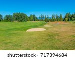 sand bunkers at the golf course. | Shutterstock . vector #717394684