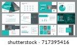 green business presentation... | Shutterstock .eps vector #717395416