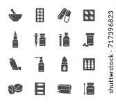 pharmacy icons | Shutterstock .eps vector #717396823