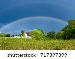 A Double Rainbow Over A Farm...