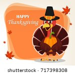 thanksgiving greeting card with ... | Shutterstock .eps vector #717398308