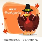 thanksgiving greeting card with ... | Shutterstock .eps vector #717398476