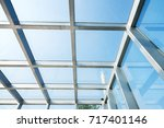 transparent glass roof of a...   Shutterstock . vector #717401146