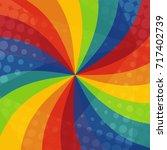 abstract rainbow ray texture... | Shutterstock .eps vector #717402739