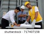young asian field engineer... | Shutterstock . vector #717407158