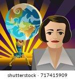 ayn rand objectivist... | Shutterstock .eps vector #717415909