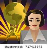 ayn rand objectivist... | Shutterstock .eps vector #717415978