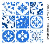 collection of ceramic tiles...   Shutterstock .eps vector #717417400
