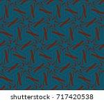 modern geometric ornament.... | Shutterstock .eps vector #717420538